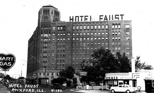 Photograph of the Faust Hotel in the mid-1930s.