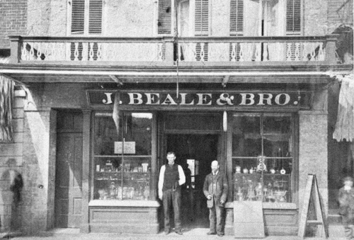 Storefront that was part of Metropolitan Hall, late 19th Century.