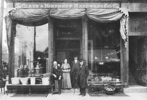 Clark & McKenney Hardware store, late 1800s.