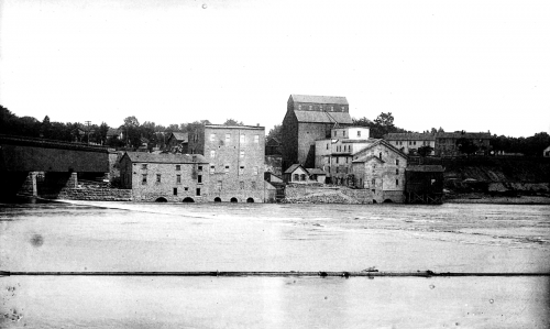 When Thomas Chick came to Rockford, (c.1876), he and his brother John bought these flouring mills along the Rock River.