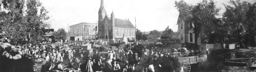 The farmer's market during the early twentieth century.
