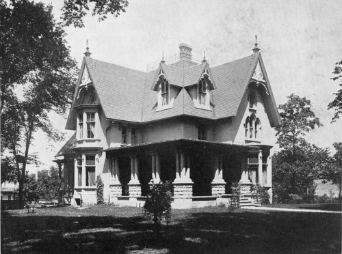 Residence of Roland Shumway on South First Street.