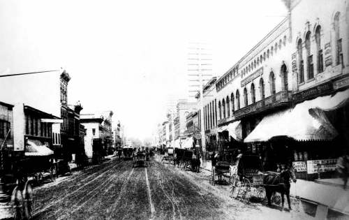 Richardson Building ,c.1890s, when West State Street was unpaved.