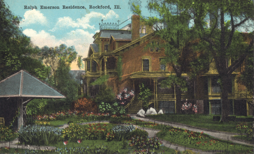 The Emerson residence in its heyday.