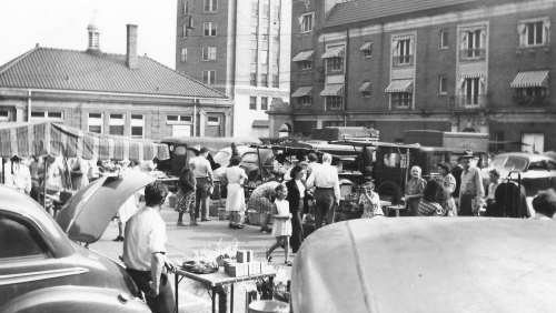 The Shumway Market, late 1940s or early 1950s.